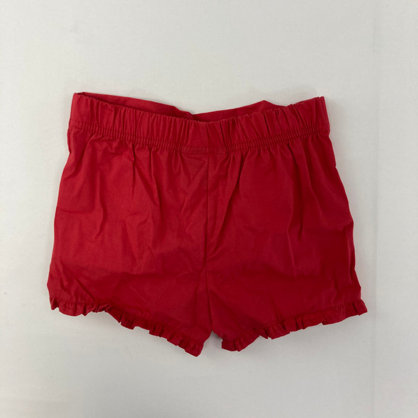 Red Ruffle Shorts 18 mth