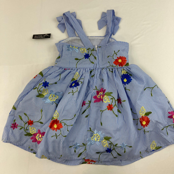 Tie Strap Embroid Dress 3T