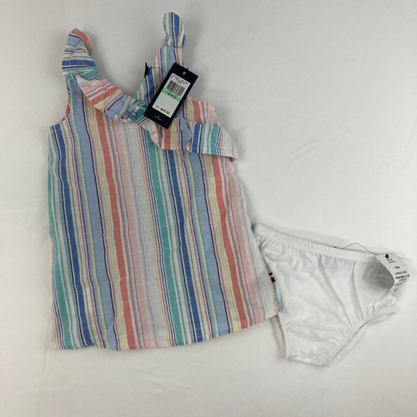 Striped Ruffle Dress 18 mth