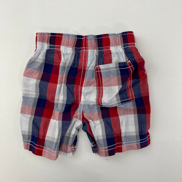 Red Stripe Shorts 12 mth
