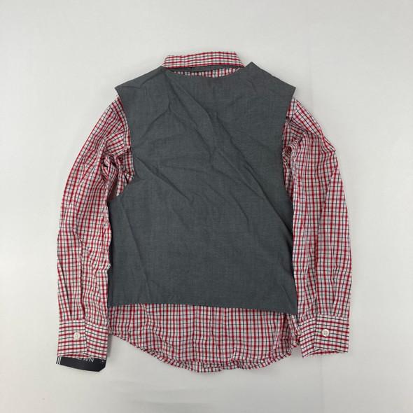 Red Plaid Vest Set 6 yr