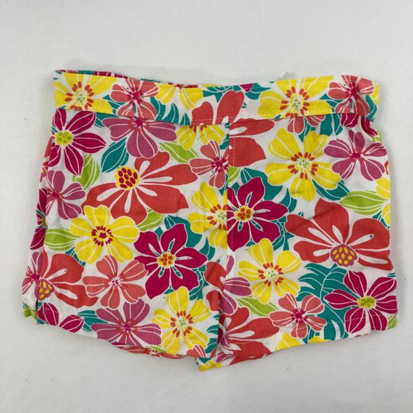 Flower Print Shorts 12 mth