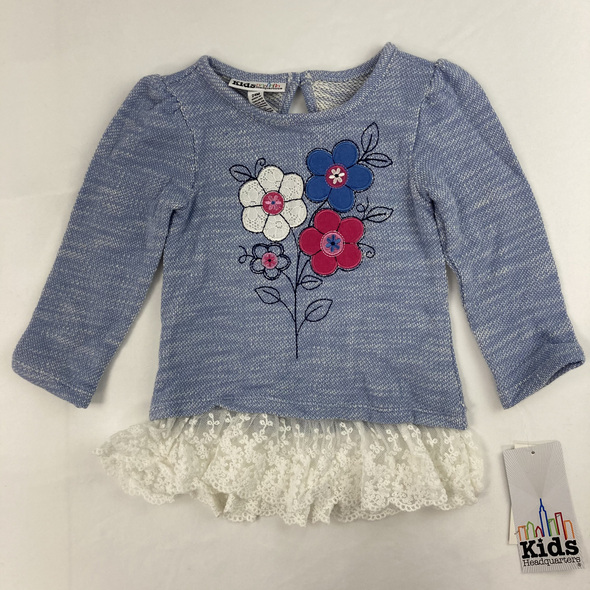 Terry Flower Top 24 mth
