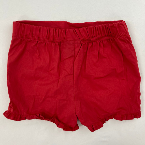 Solid Red Ruffle Shorts 18 mth