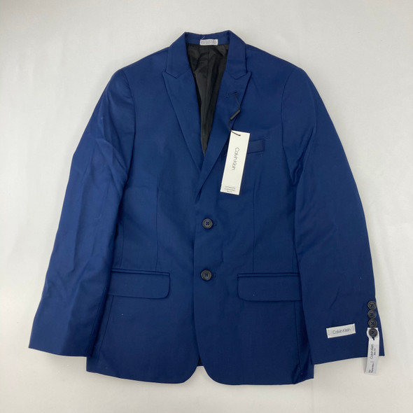 Navy Solid Suit Jacket 12 yr