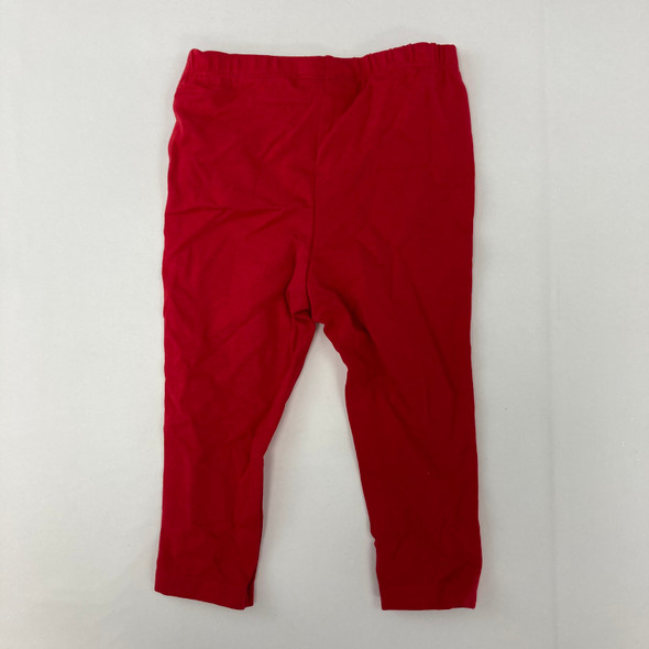 Red Solid Legging 18 mth