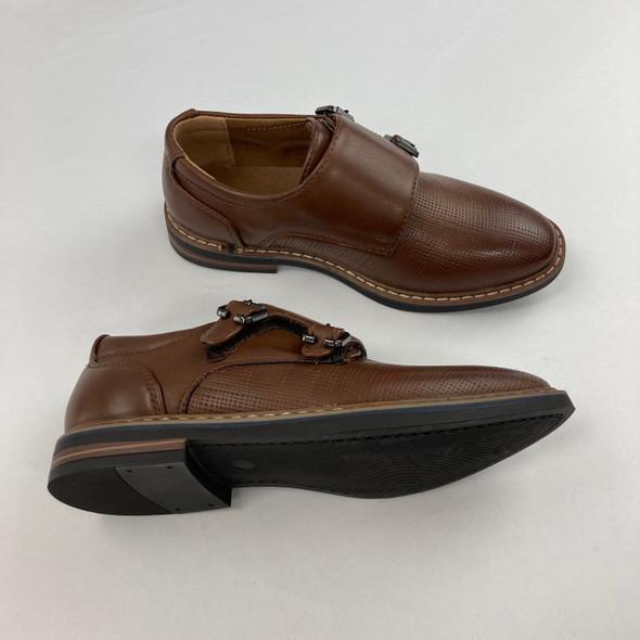 Dark Tan Velcro Dress Shoes 2.5
