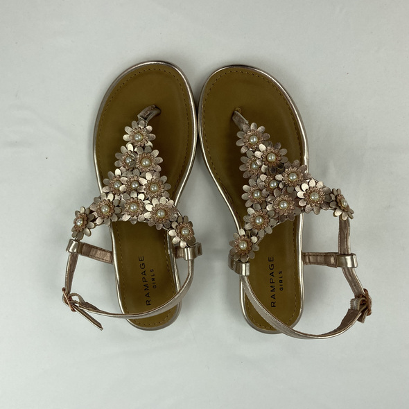 Gold Daisy Sandals 1