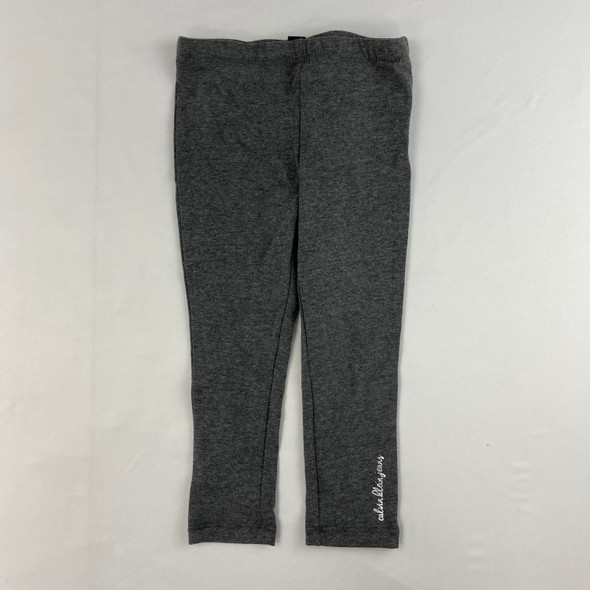 Silver Ankle Logo Leggings 3T