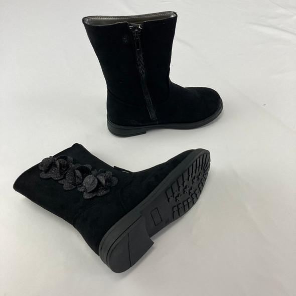 Black Floral Boots 10