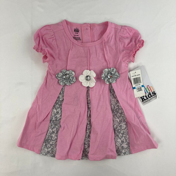 Pleated Flower Top 24 mth