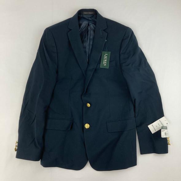 Navy Gold Button Suit Jacket 14H