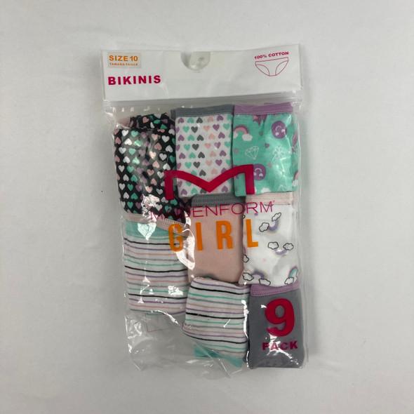 8-pk Patterned Underwear 10 yr