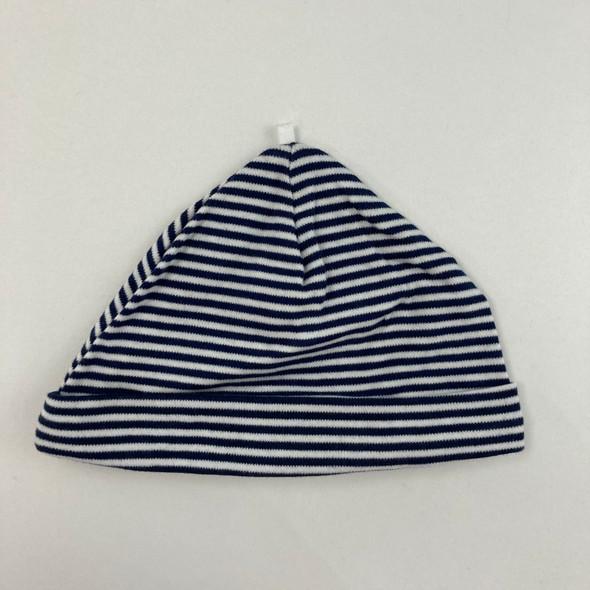 Navy Striped Infant Hat 9 mth