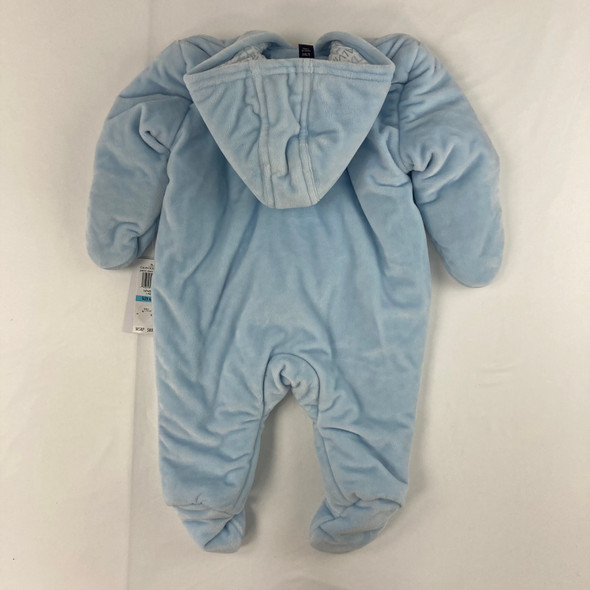 Baby Blue Sherpa Snowsuit 6/9 mth