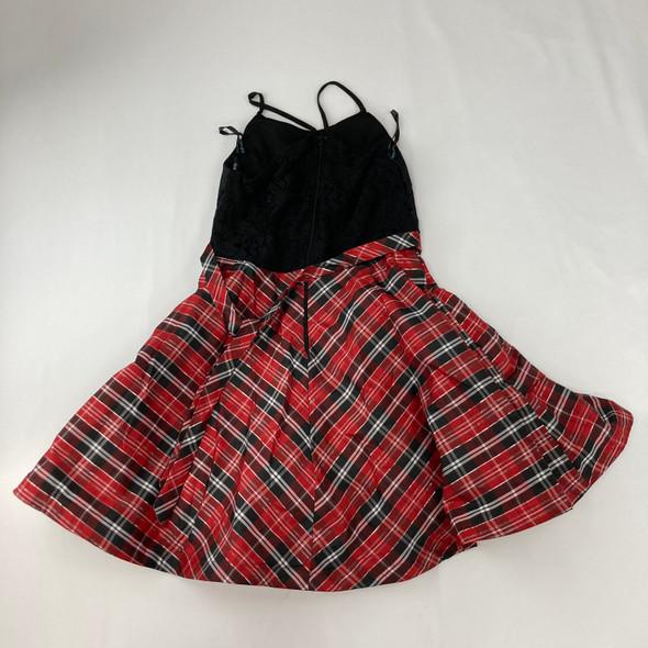 Red Plaid Dress 12 yr