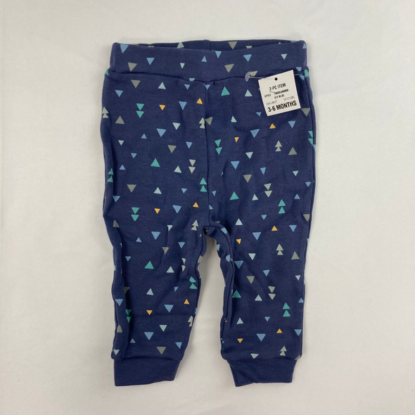 Navy Triangle Pants 3-6 mth