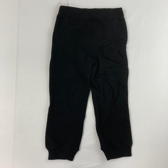 Solid Black CK Joggers 4T