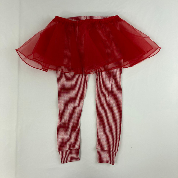 Candy Cane Leggings with Tule Skirt 3T