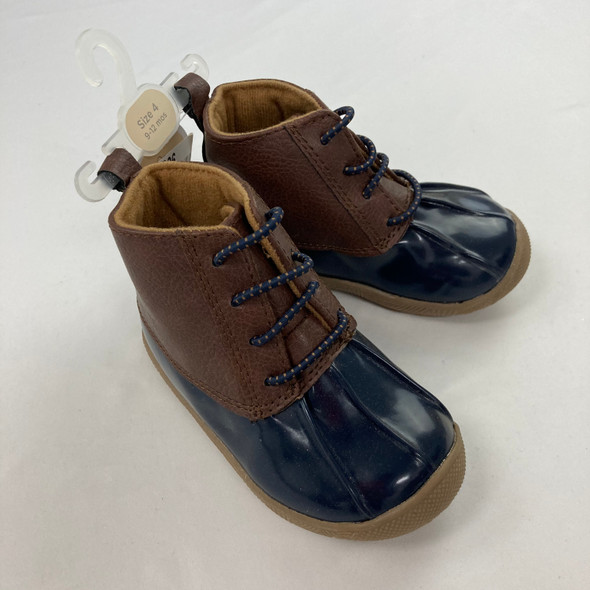 Navy Duck Boots 9-12 mth