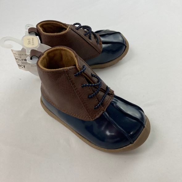 Navy Duck Boots 12-24 mth