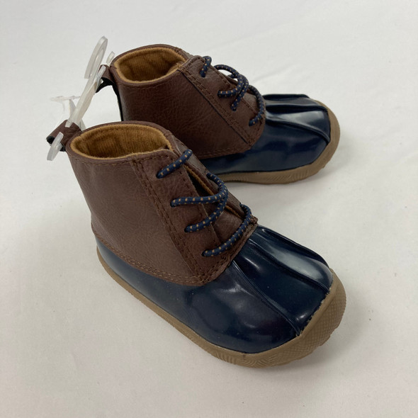 Navy Duck Boots 6-9 mth