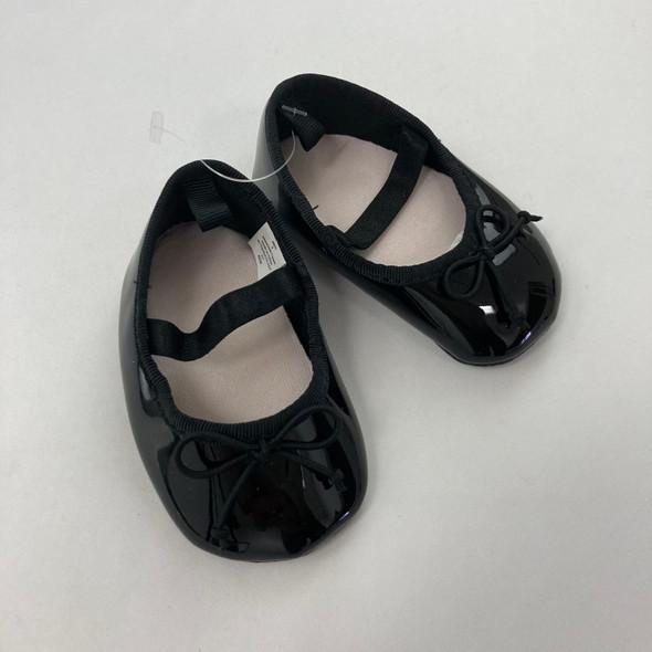 Black Ballet Flats 3-6 mth
