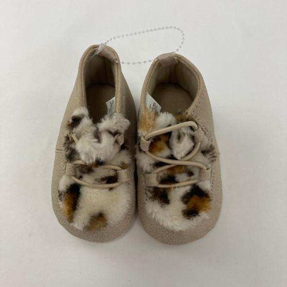 Cheetah Tan Shoes 6-9 mth 3