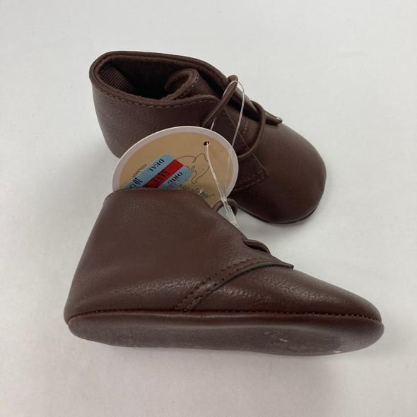 Brown Chukka Shoes 6-9 mth
