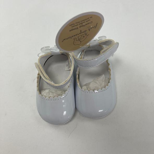 White Flat Shoes 0