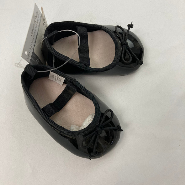 Black Ballet Flats up to 2 mth