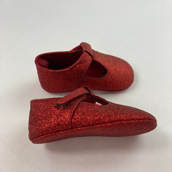 Red Glitter Shoes 9-12 mth