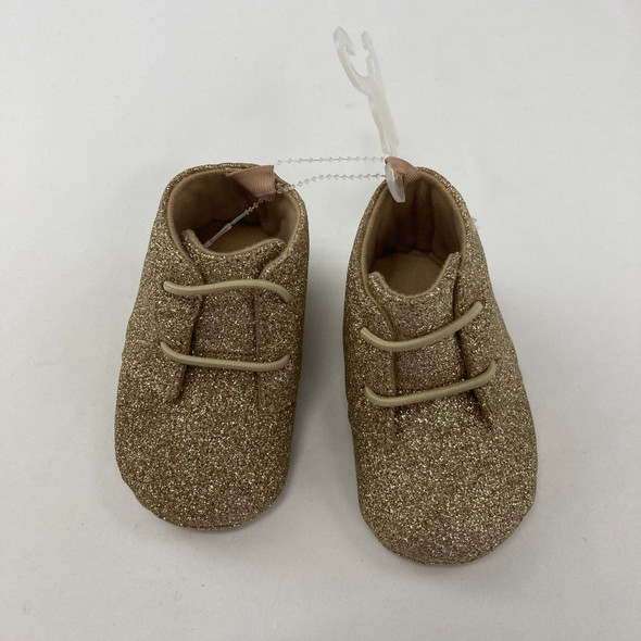 Gold Glitter Shoes 6-9 mth 3