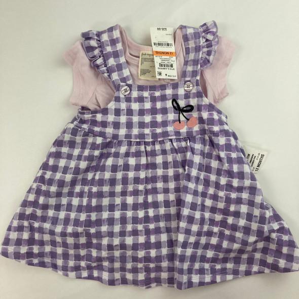 Cherry Gingham 2-pc Dress 12 mth