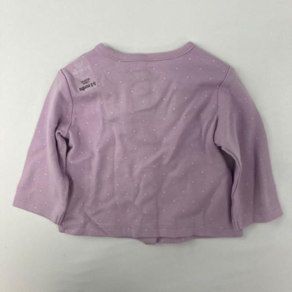 Lilac Cardigan 0-3 mth