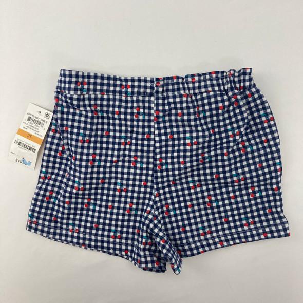 Cherry Check Shorts 3T