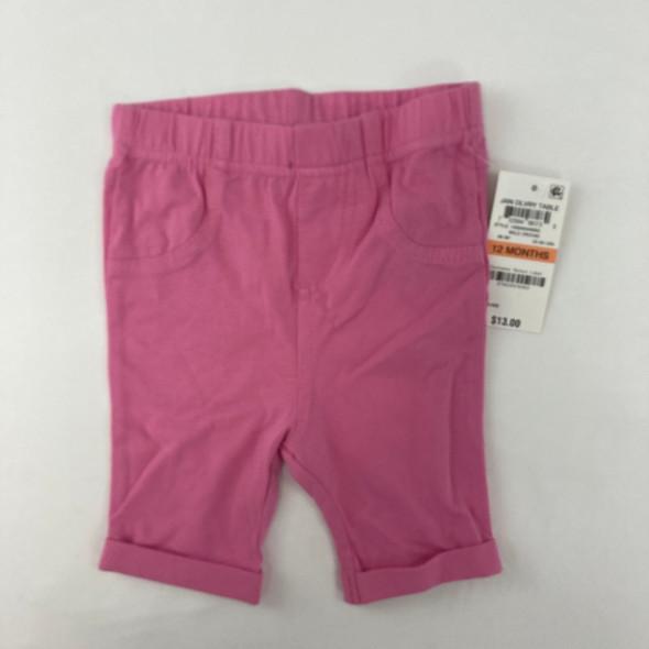 Pink Bermuda Shorts 12 mth