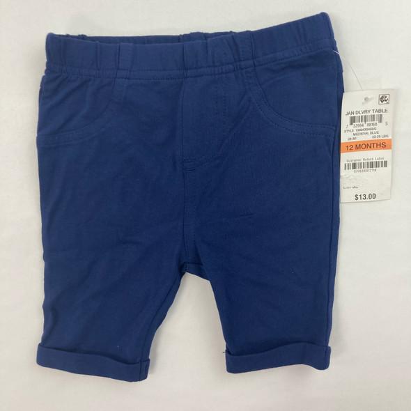 Solid Navy Bermuda Shorts 12 mth