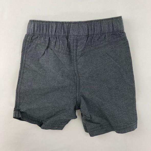 Gray Chambray Shorts 18 mth