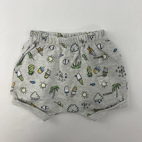 Tropical Beach Shorts 0-3 mth