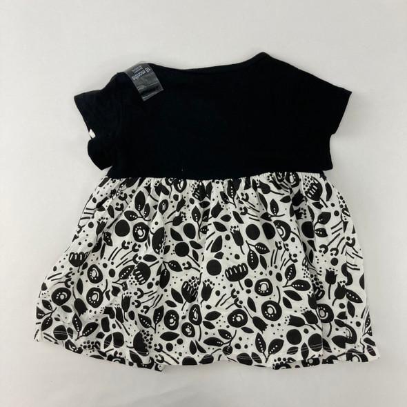 Floral Black Print Dress 18 mth