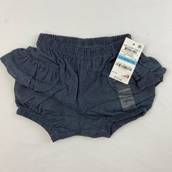 Faux Denim Ruffle Shorts 3-6 mth