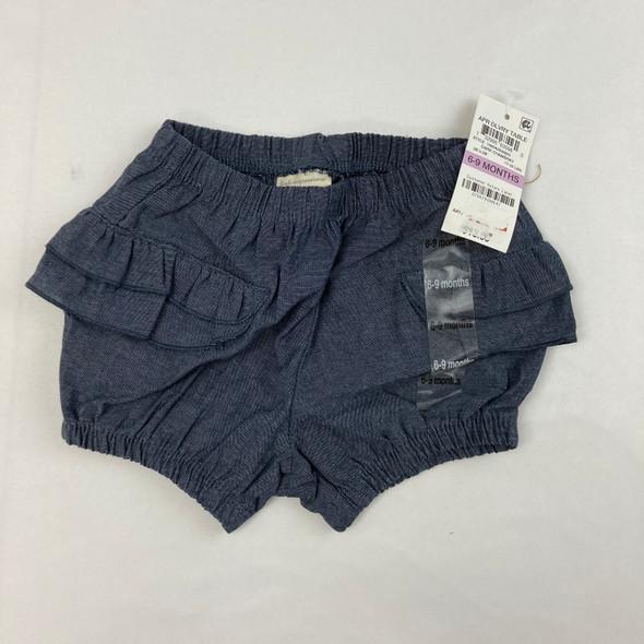 Faux Denim Ruffle Shorts 6-9 mth