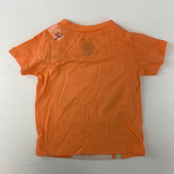 Orange Lion Tee 3-6 mth