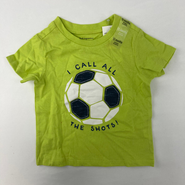 Lime Soccer Tee 12 mth
