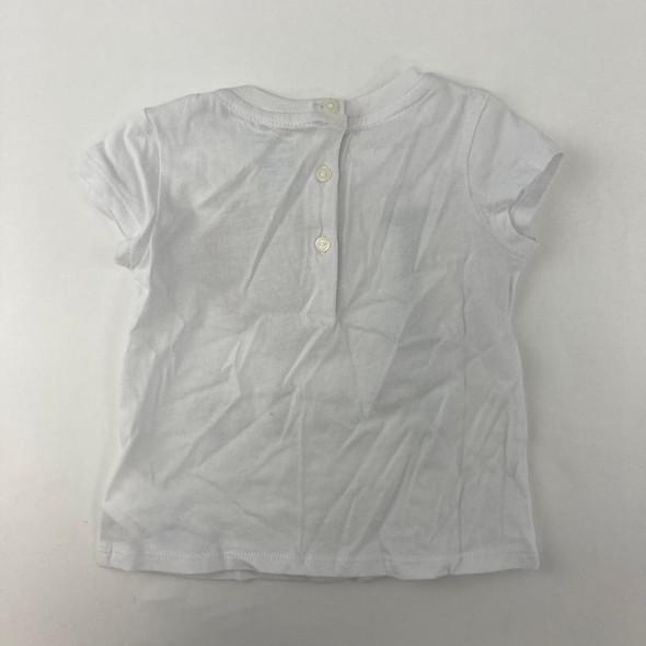 White Cotton Top 9 mth