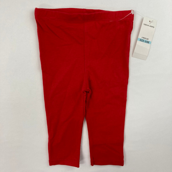 Solid Red Legging 6/9 mth