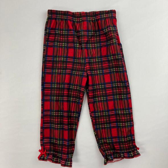 Plaid Ruffle Pajama Pants 18 mth