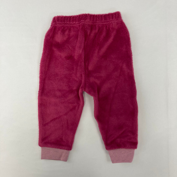 Velour Pink Joggers 6-9 mth