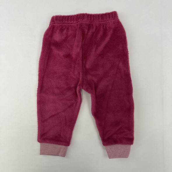 Velour Pink Joggers 12 mth
